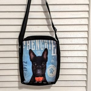Small Zippered French Bull Dog Bag NWOT